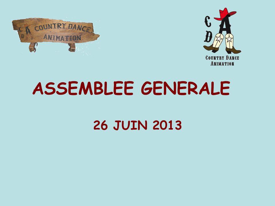 ASSEMBLEE GENERALE 26 JUIN 2013