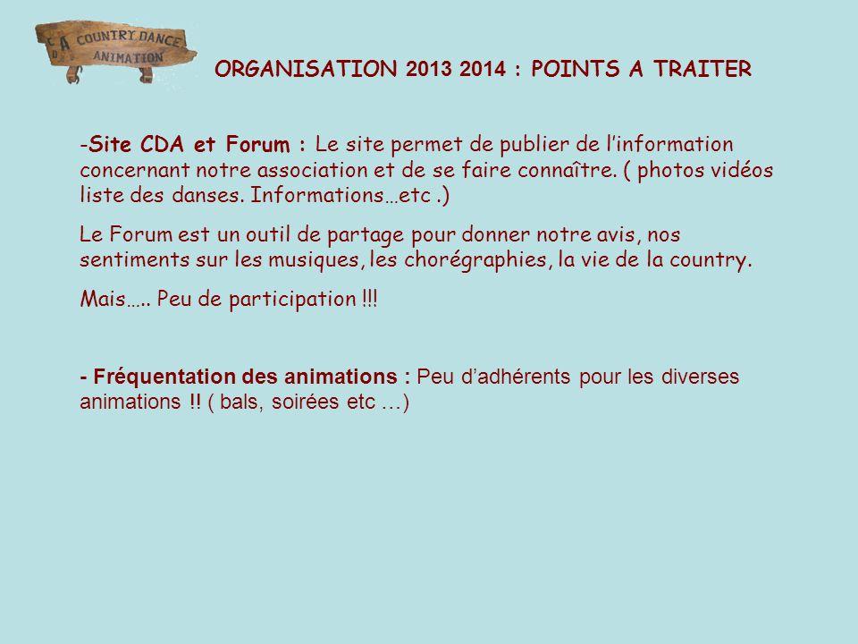 -Site CDA et Forum : Le site permet de publier de linformation concernant notre association et de se faire connaître.