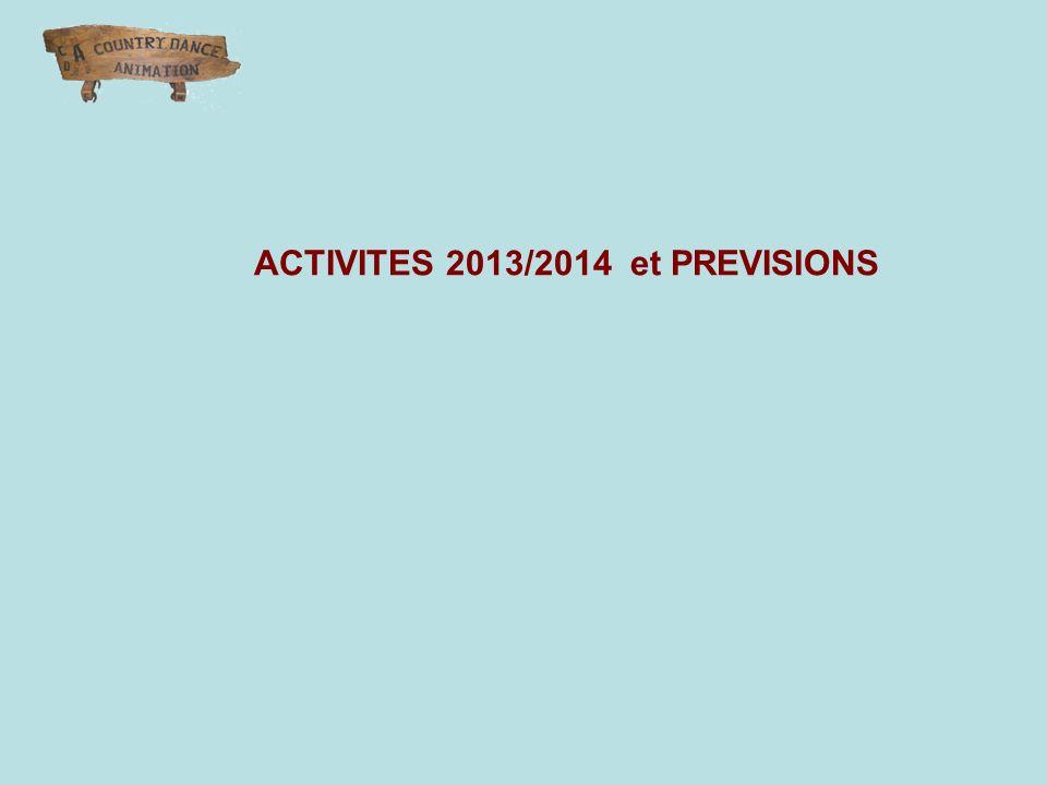 ACTIVITES 2013/2014 et PREVISIONS