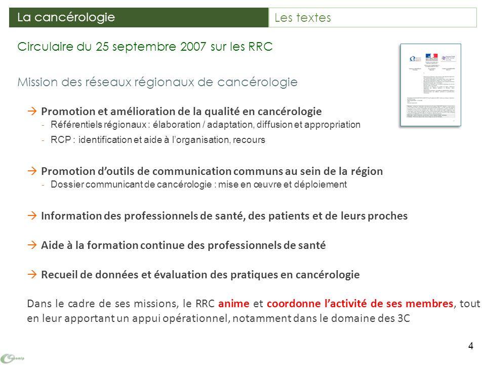 Mission des réseaux régionaux de cancérologie Promotion et amélioration de la qualité en cancérologie - Référentiels régionaux : élaboration / adaptat