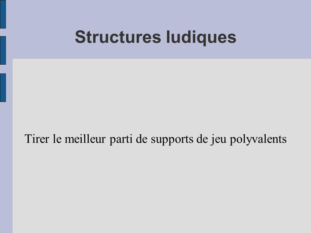 Structures ludiques Tirer le meilleur parti de supports de jeu polyvalents