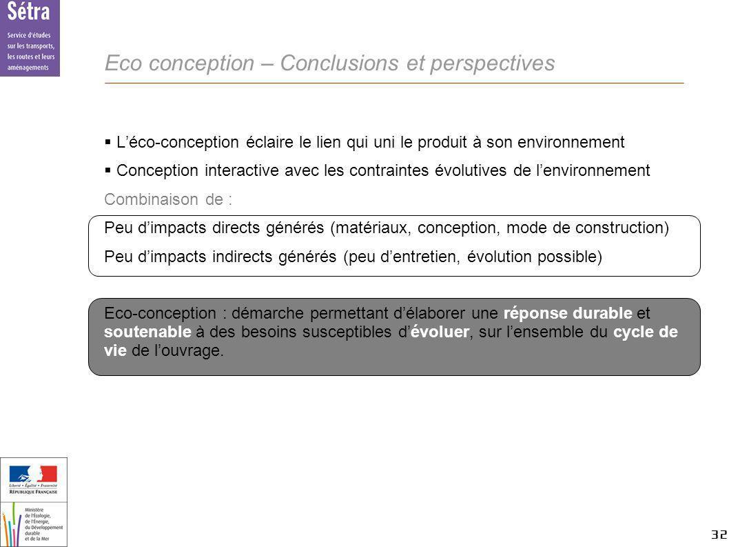 32 32 Setra Léco-conception éclaire le lien qui uni le produit à son environnement Conception interactive avec les contraintes évolutives de lenvironn