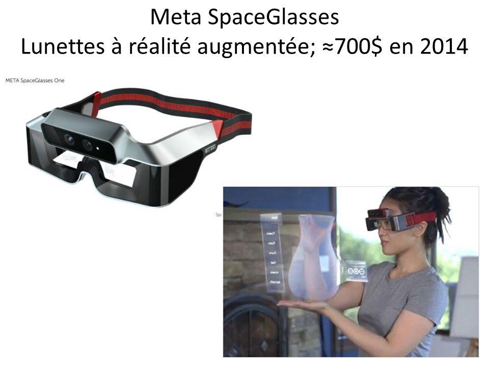 Meta SpaceGlasses Lunettes à réalité augmentée; 700$ en 2014