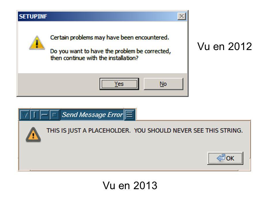Vu en 2012 Vu en 2013