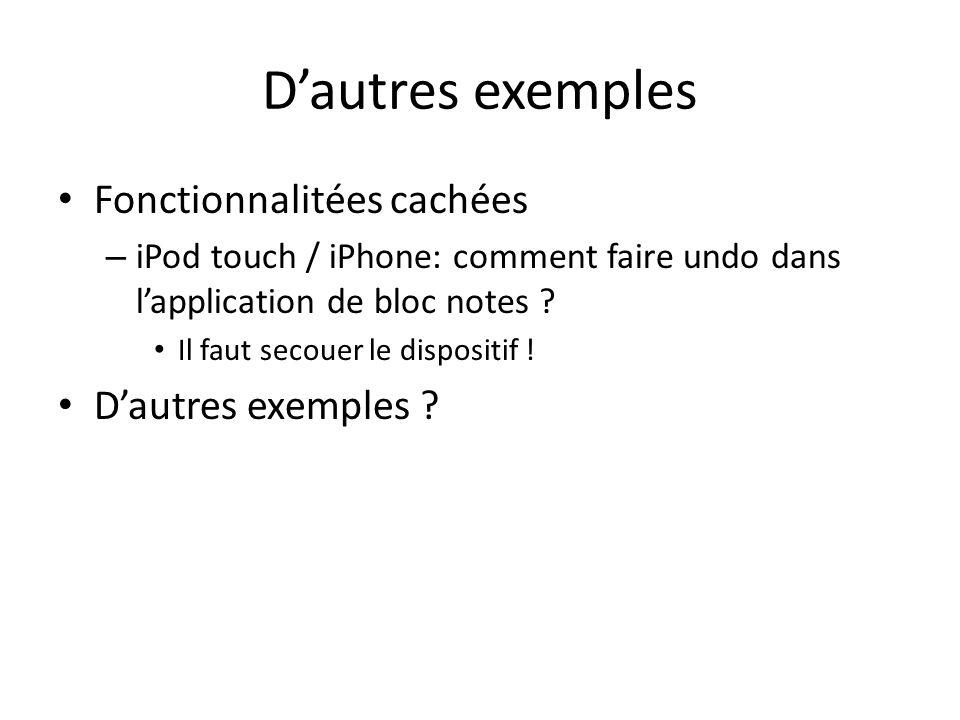 Dautres exemples Fonctionnalitées cachées – iPod touch / iPhone: comment faire undo dans lapplication de bloc notes .