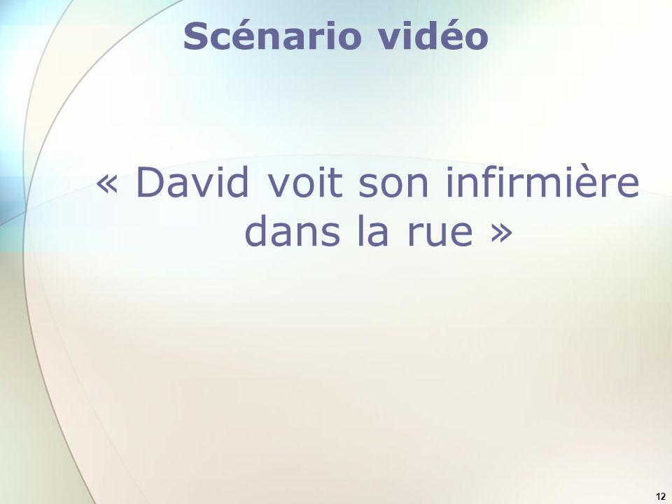 12 Scénario vidéo « David voit son infirmière dans la rue »