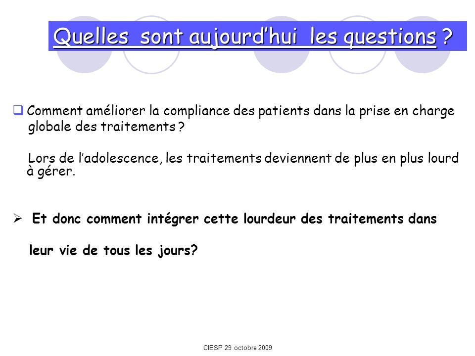 Comment améliorer la compliance des patients dans la prise en charge globale des traitements ? Lors de ladolescence, les traitements deviennent de plu