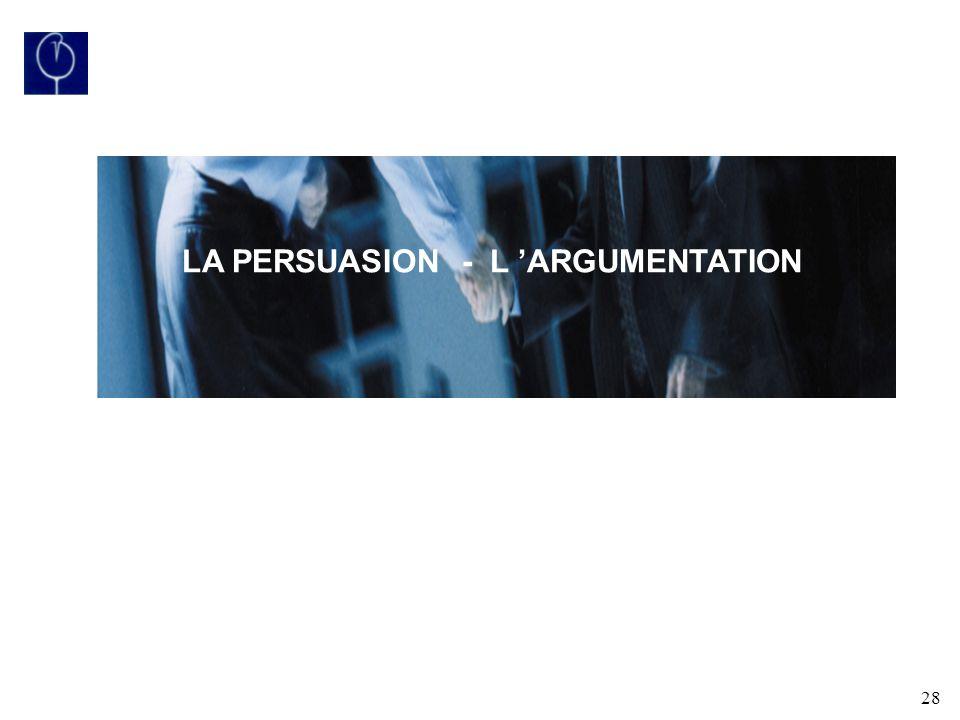 28 LA PERSUASION - L ARGUMENTATION
