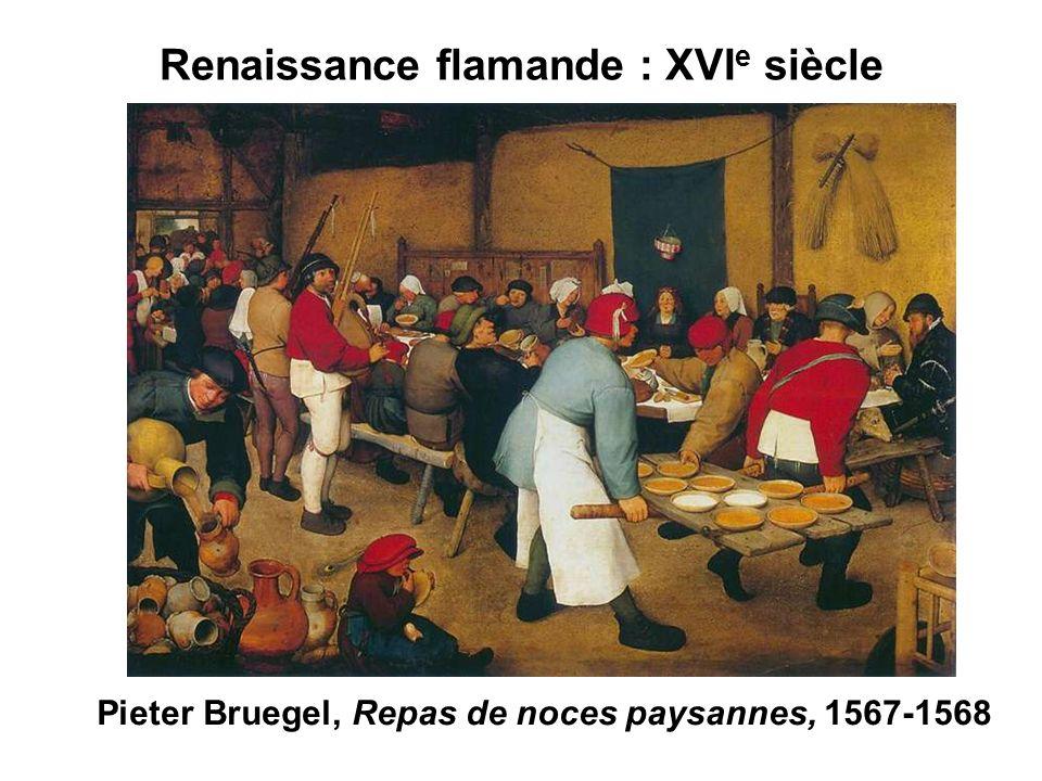 Renaissance flamande : XVI e siècle Pieter Bruegel, Repas de noces paysannes, 1567-1568
