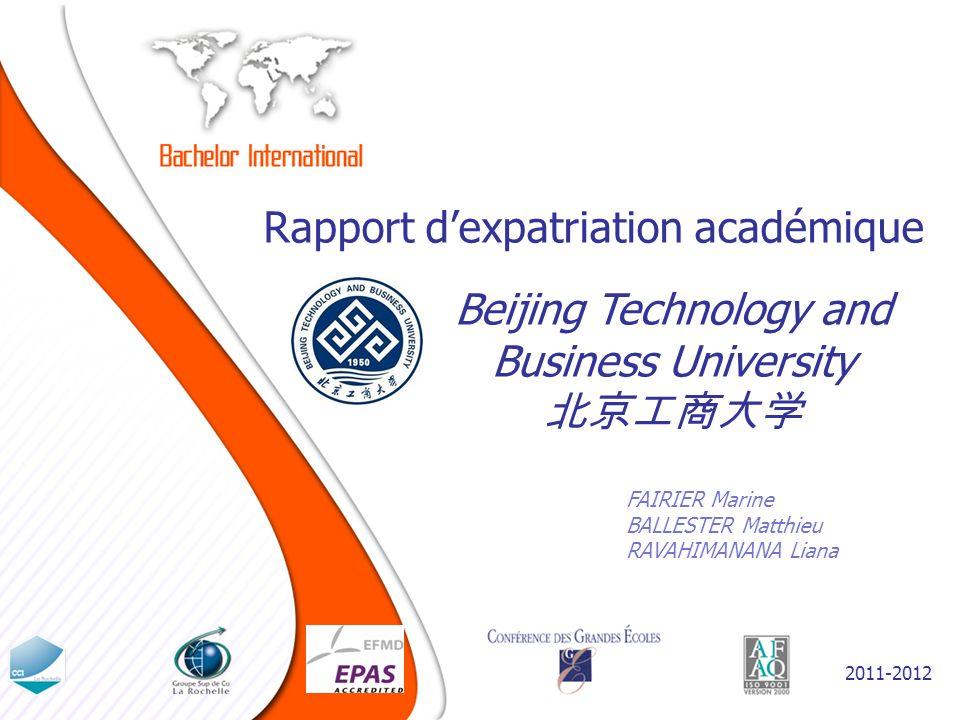 Choix du pays, motivations et attentes initiales Pourquoi la Chine.