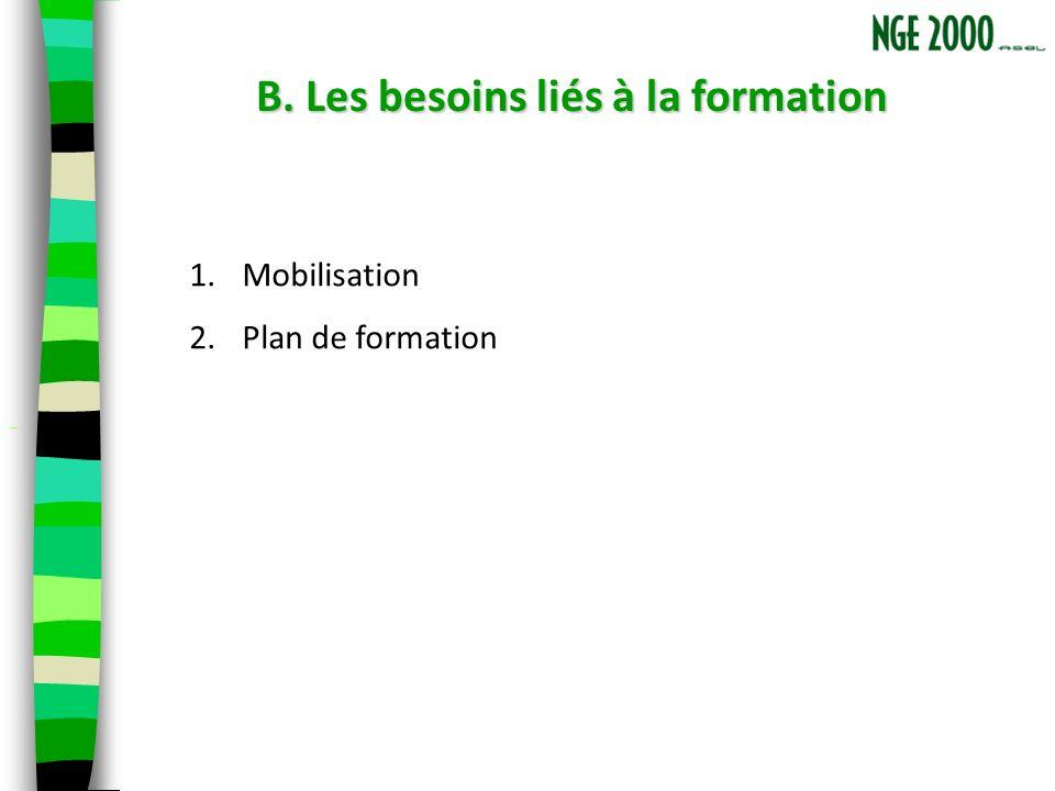 B. Les besoins liés à la formation B.