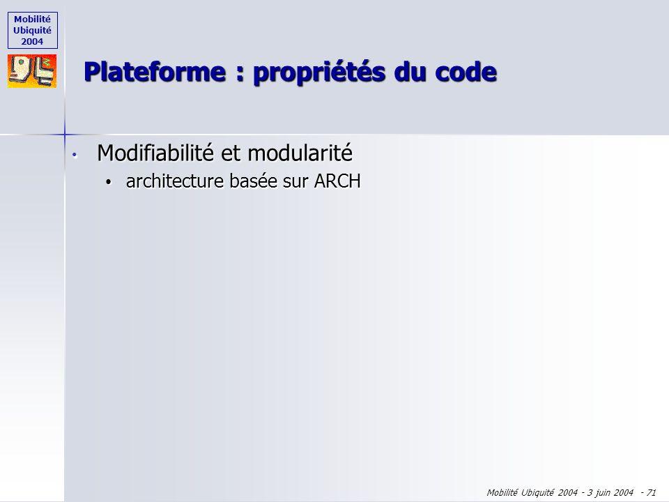 Mobilité Ubiquité 2004 Mobilité Ubiquité 2004 - 3 juin 2004 - 70 Interaction avec les Phearcons Interaction avec les Phearcons Définition des Phearcon