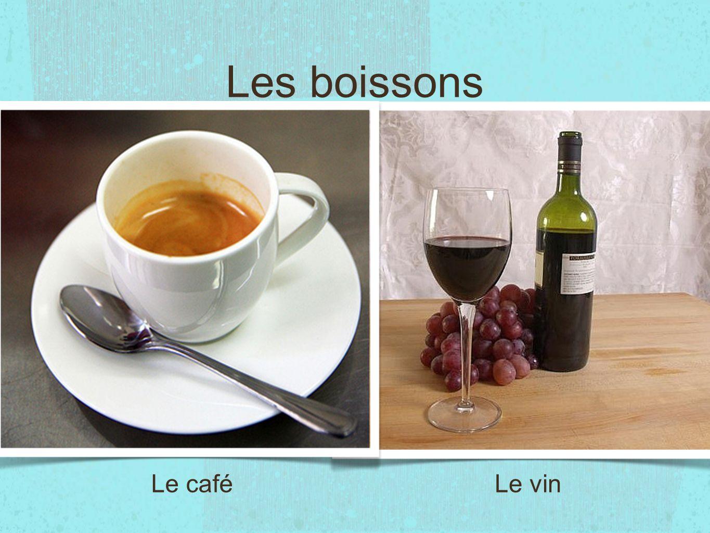 Les boissons Le caféLe vin