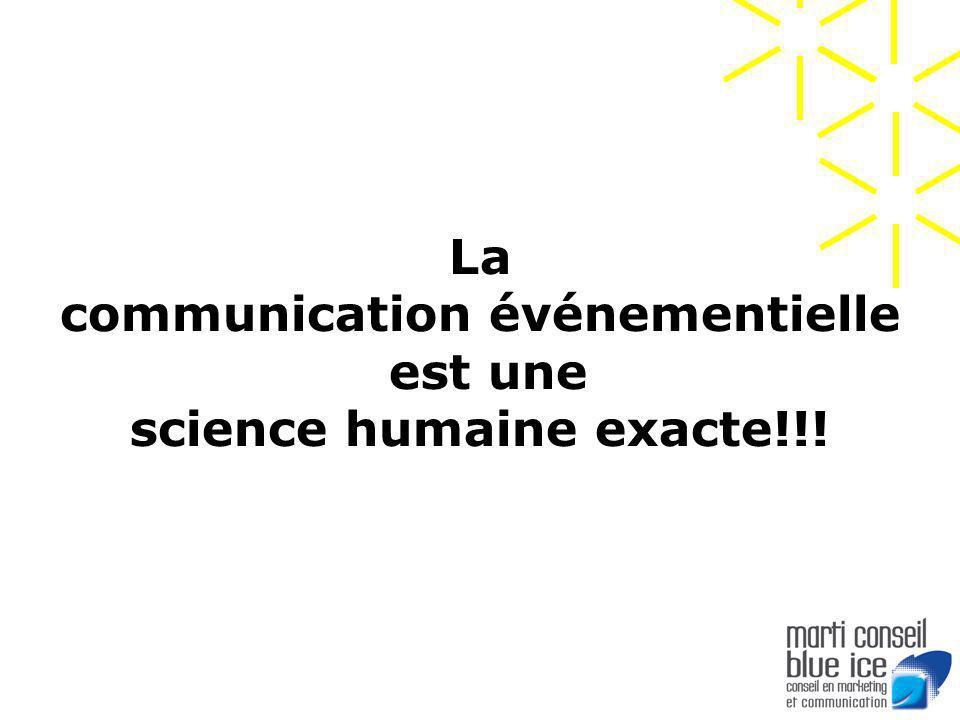 La communication événementielle est une science humaine exacte!!.