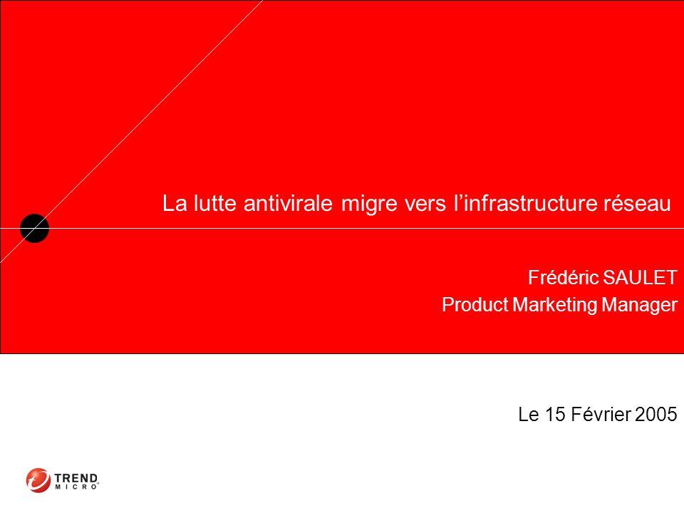 La lutte antivirale migre vers linfrastructure réseau Frédéric SAULET Product Marketing Manager Le 15 Février 2005