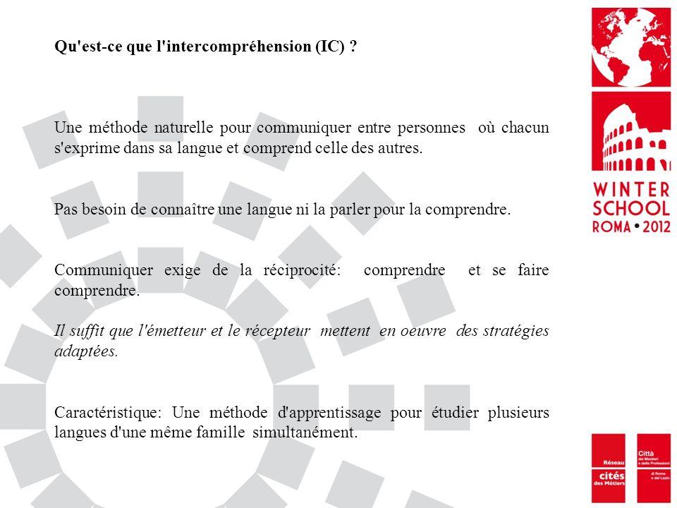 Qu'est-ce que l'intercompréhension (IC) ? Une méthode naturelle pour communiquer entre personnes où chacun s'exprime dans sa langue et comprend celle