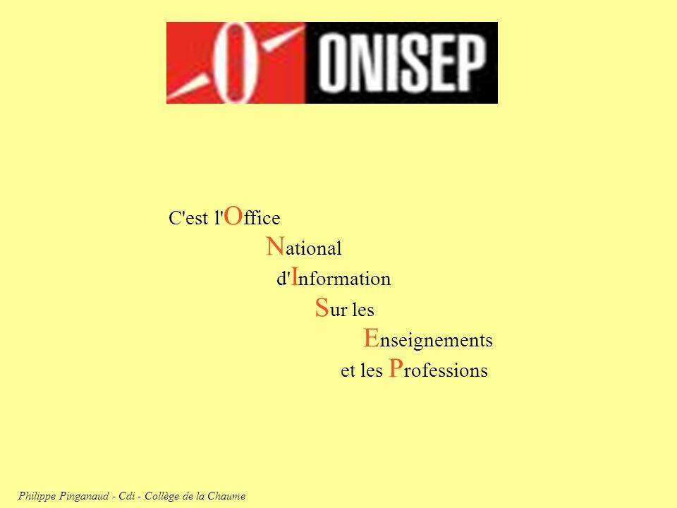 C'est l' O ffice N ational d' I nformation S ur les E nseignements et les P rofessions Philippe Pinganaud - Cdi - Collège de la Chaume