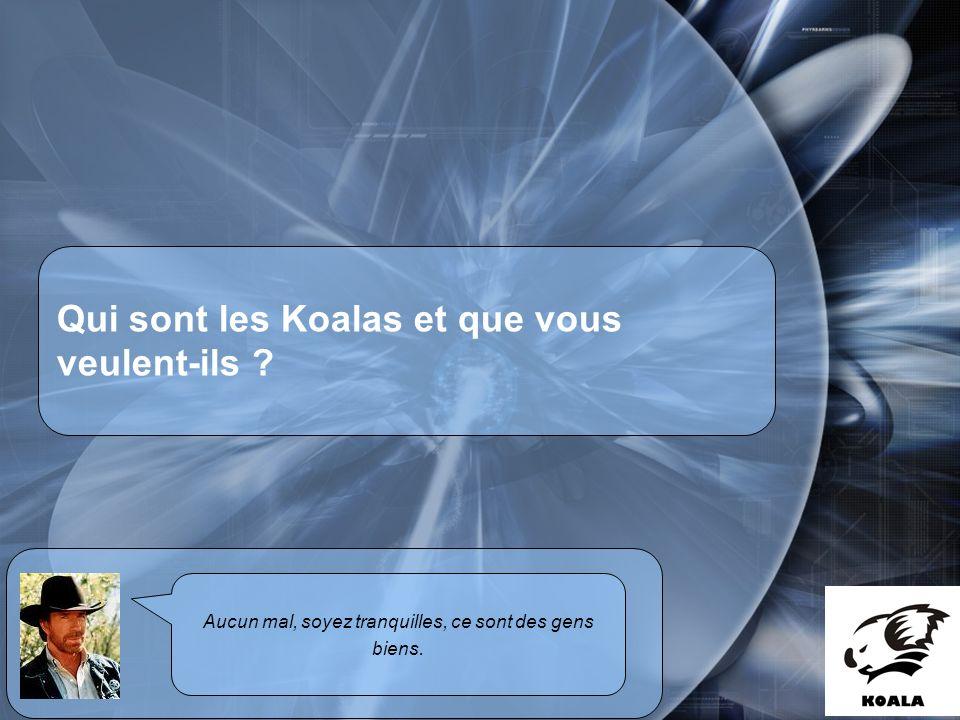 Réunion de service informatique Fatih Bellachia 23 janvier 2007 Qui sont les Koalas et que vous veulent-ils .