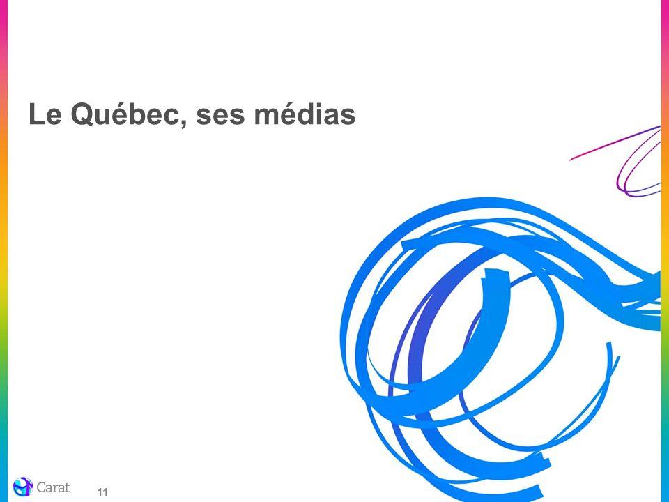 11 Le Québec, ses médias