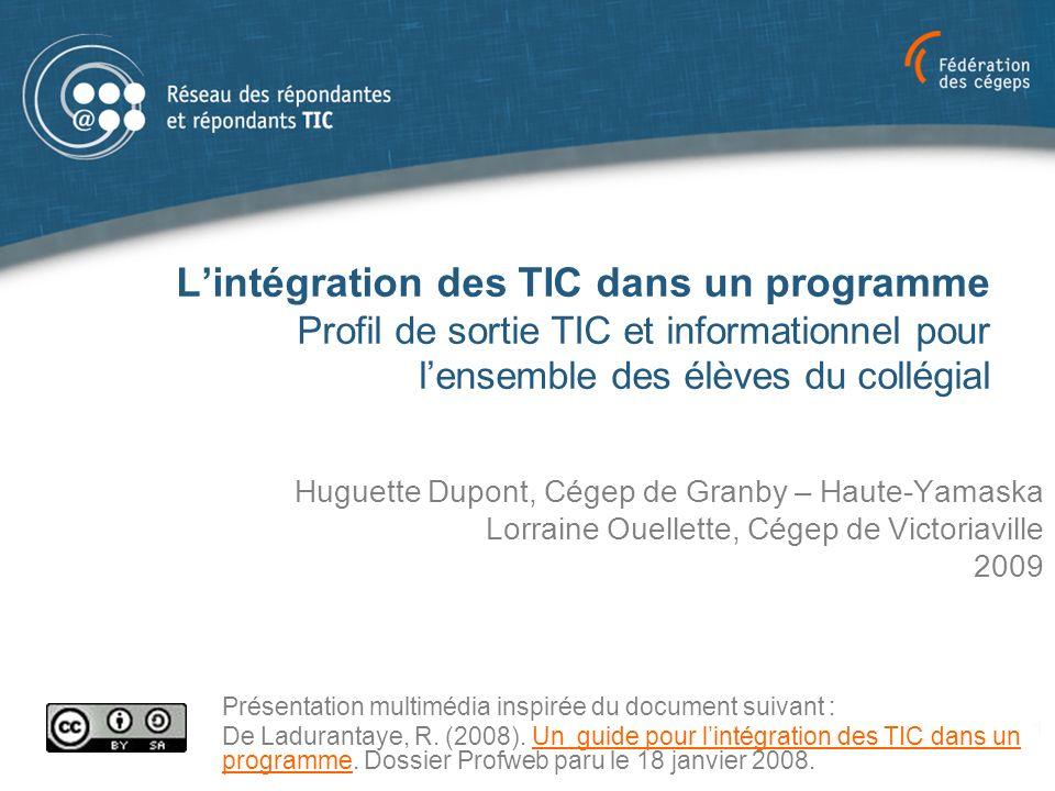 Profil TIC et informationnel : Profil de sortie 32