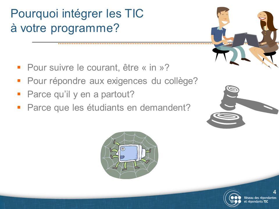 Objectifs et standards en TCG Objectifs et standards en Sciences humaines Les TIC dans un programme : exemples 15