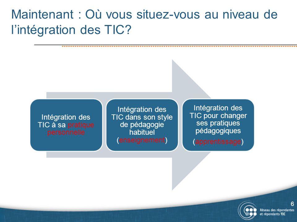 Habiletés TIC et informationnelles en détail… 37