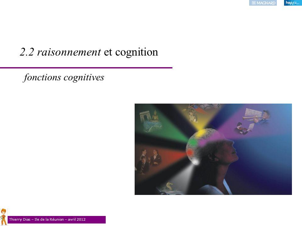 Thierry Dias – Ile de la Réunion – avril 2012 2.2 raisonnement et cognition fonctions cognitives