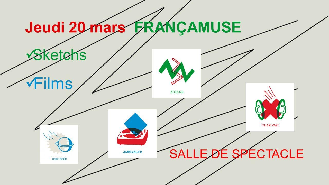 Vendredi 21 mars FRANCJEU Concours de mots croisés COURS DE RÉCRÉATION