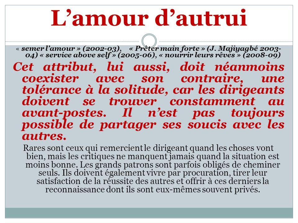 Lamour dautrui « semer lamour » (2002-03), « Prêter main forte » (J.