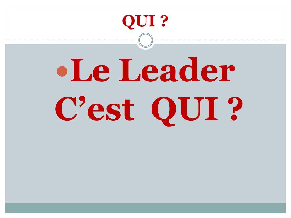 QUI ? Le Leader Cest QUI ?