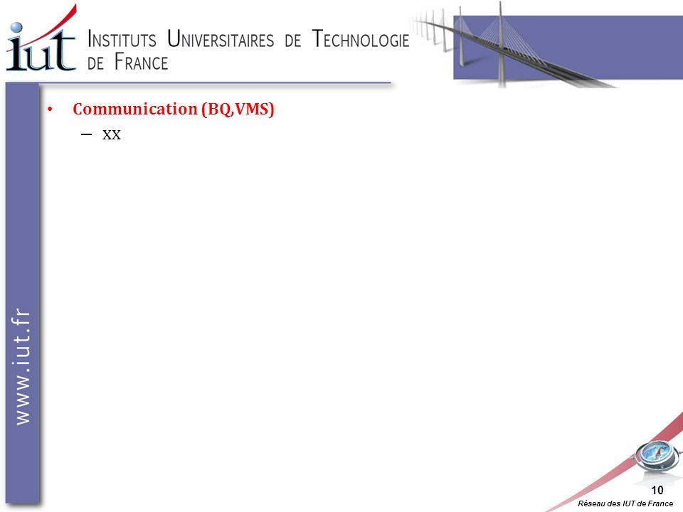 Communication (BQ,VMS) – xx 10