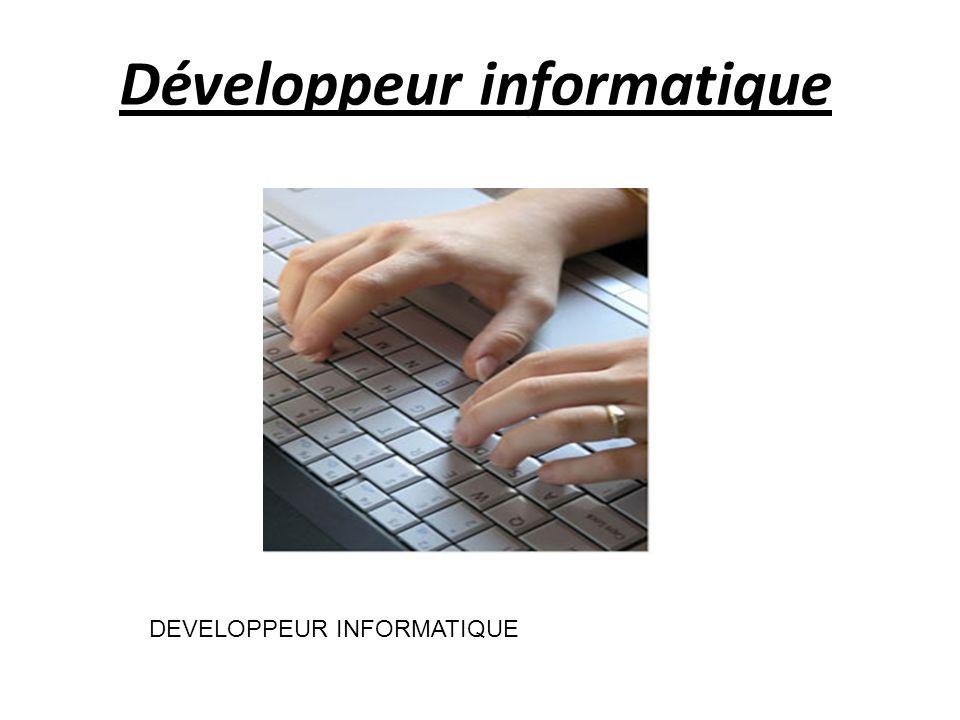 Développeur informatique DEVELOPPEUR INFORMATIQUE