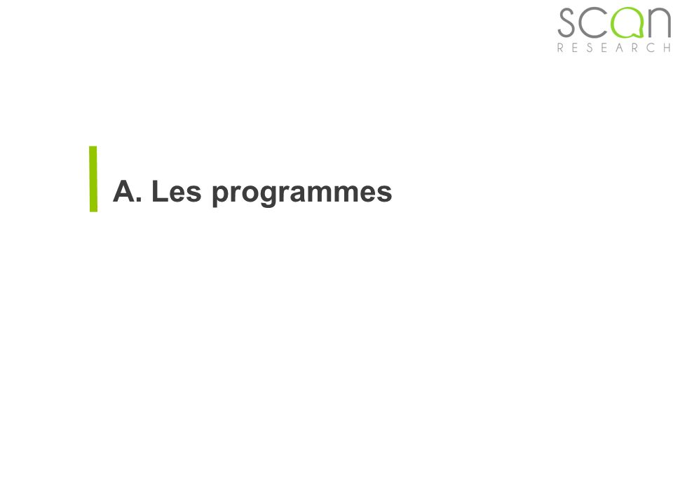 Scan-research A. Les programmes