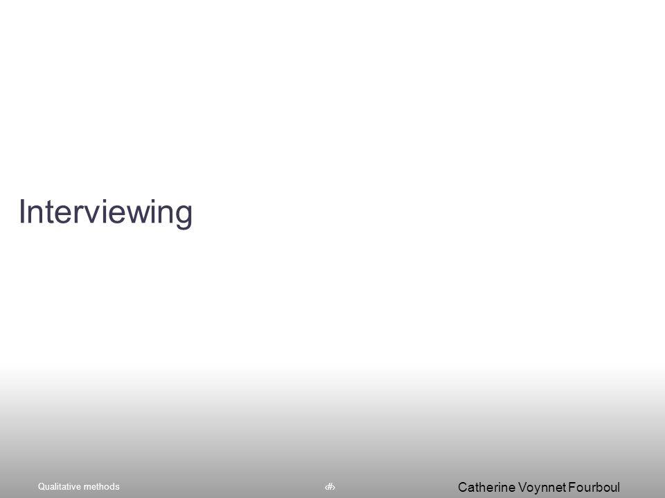 Qualitative methods65 Catherine Voynnet Fourboul Click to edit Master title styleConclusion et Conseils Voler de ses propres ailes !