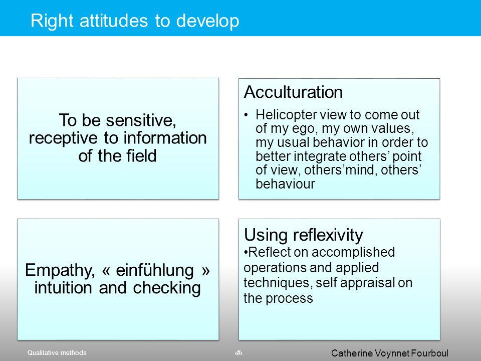 Qualitative methods37 Catherine Voynnet Fourboul Click to edit Master title style Codage pratique : comparaison 37
