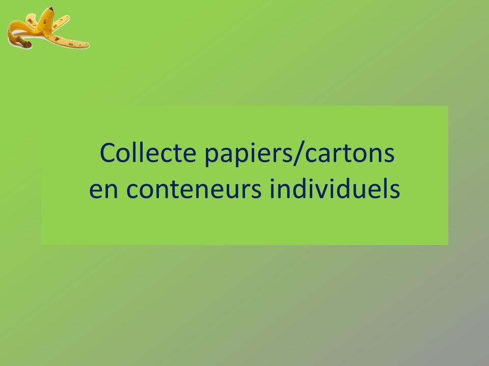 Collecte papiers/cartons en conteneurs individuels