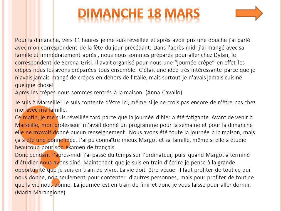 Cette année il y a eu un échange classe entre notre école I.I.S MARIA PIA et le lycée Chevreul Blancarde de Marseille.