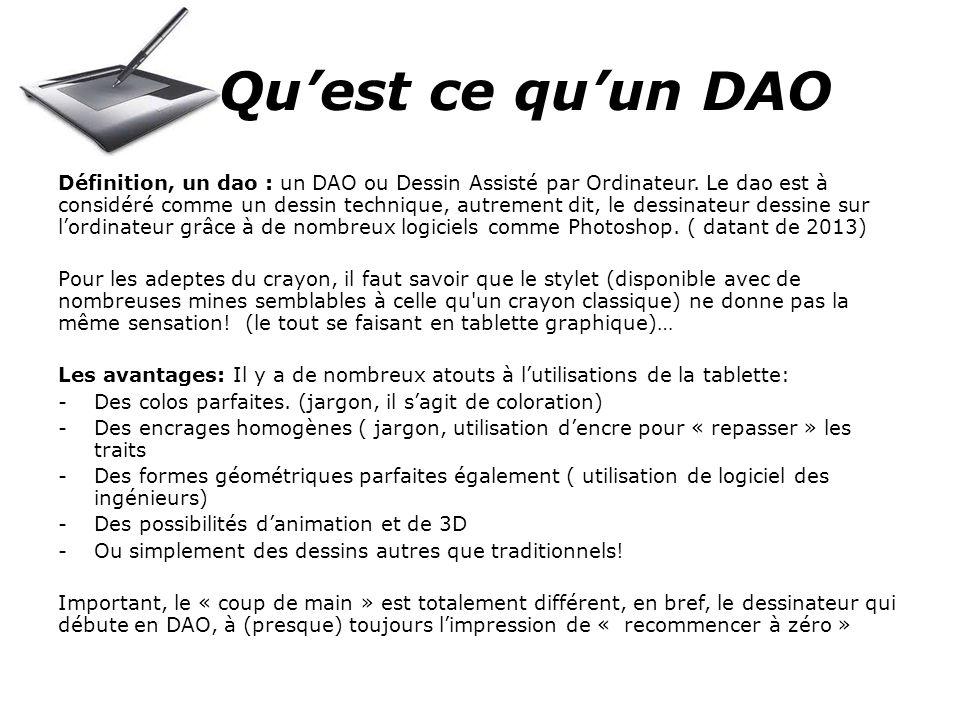Quest ce quun DAO Définition, un dao : un DAO ou Dessin Assisté par Ordinateur.