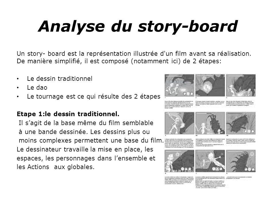 Analyse du story-board Un story- board est la représentation illustrée d un film avant sa réalisation.