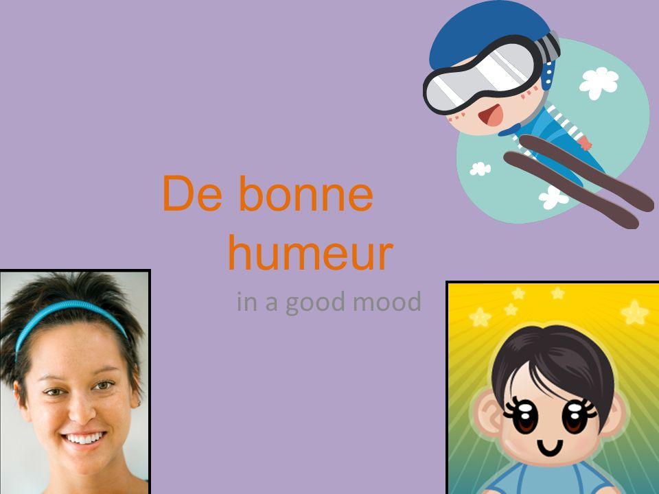 in a good mood De bonne humeur