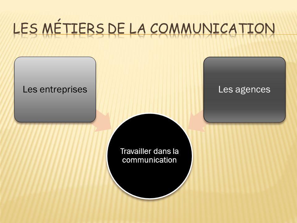 Travailler dans la communication Les entreprisesLes agences