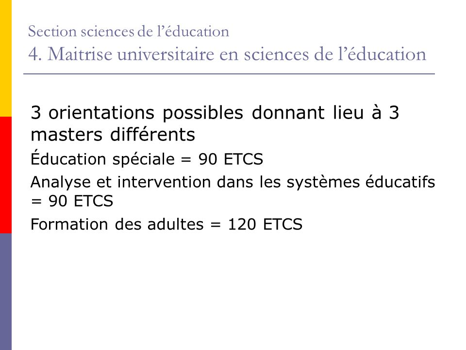 Section sciences de léducation 4.