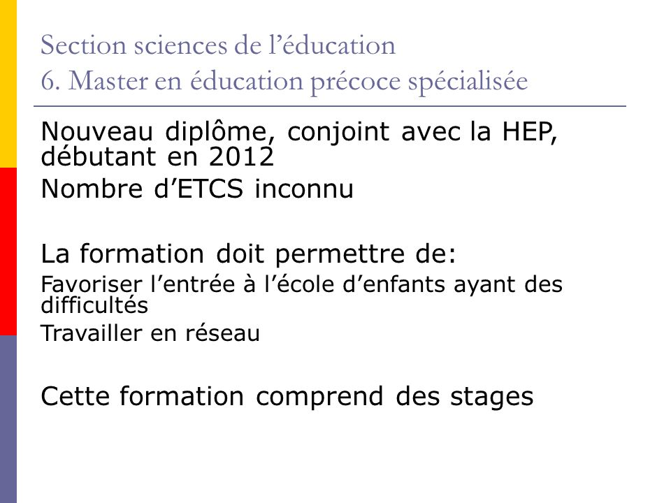 Section sciences de léducation 6.