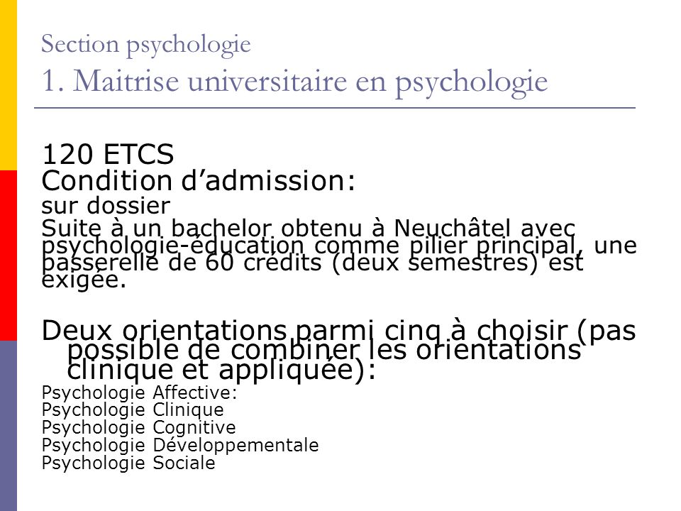 Section psychologie 2.