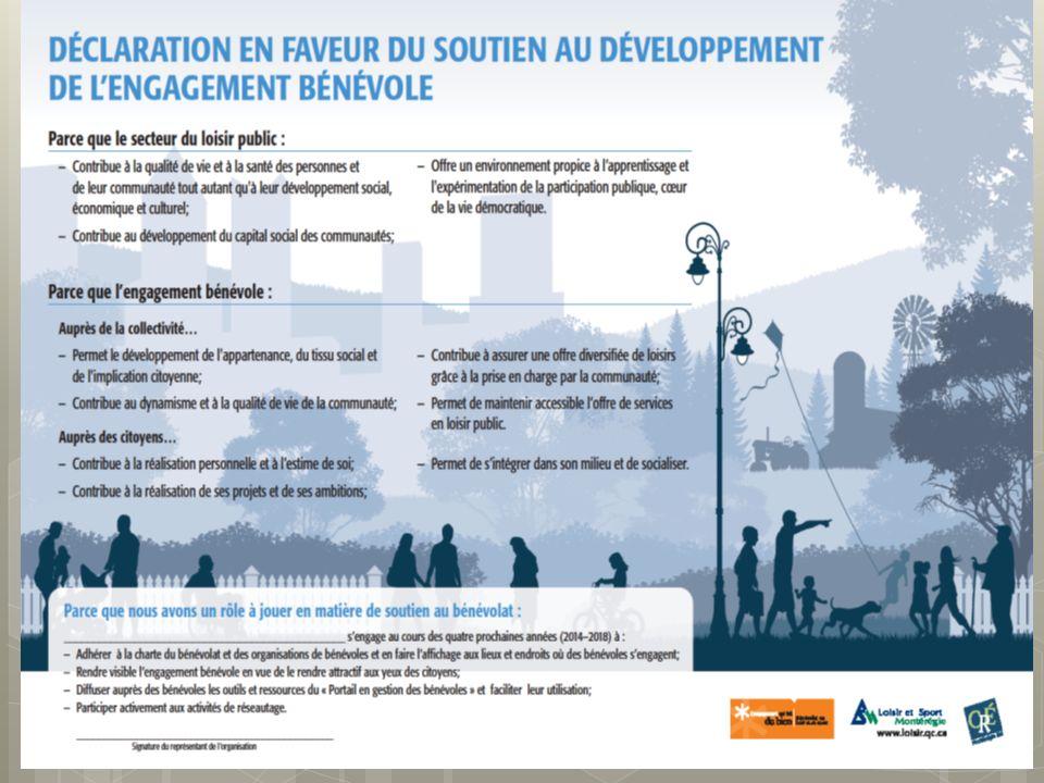 Programme de soutien au développement de lengagement bénévole en loisir et en sport