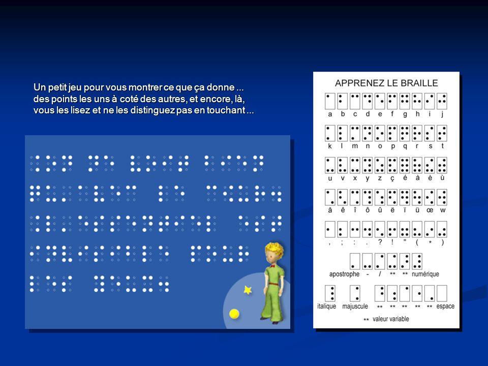 Un petit jeu pour vous montrer ce que ça donne... des points les uns à coté des autres, et encore, là, vous les lisez et ne les distinguez pas en touc