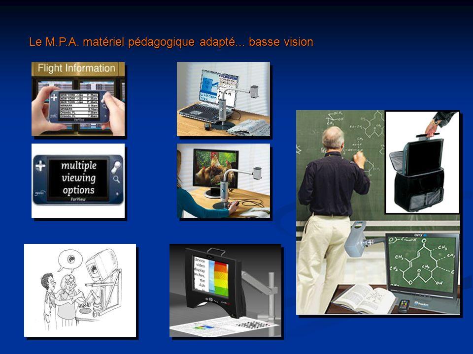 Le M.P.A. matériel pédagogique adapté... basse vision