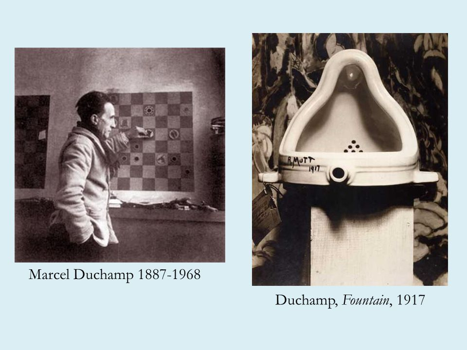 Marcel Duchamp 1887-1968 Duchamp, Fountain, 1917