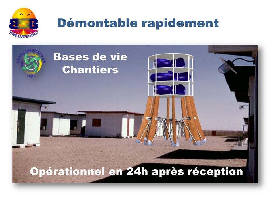 Démontable rapidement Opérationnel en 24h après réception Bases de vie Chantiers