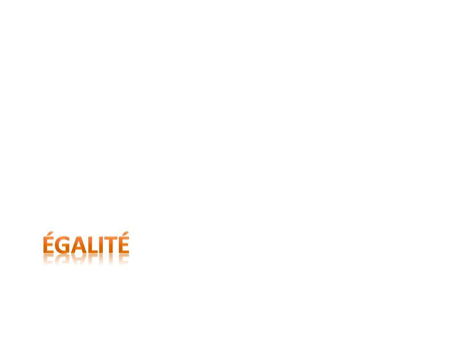Définition dégalité Absence de discrimination, fait dêtre égal. www.clipart.com